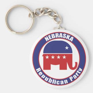 Nebraska republikanskaa partit rund nyckelring