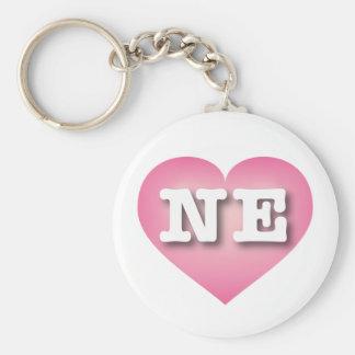 Nebraska rosor bleknar hjärta - stor kärlek rund nyckelring