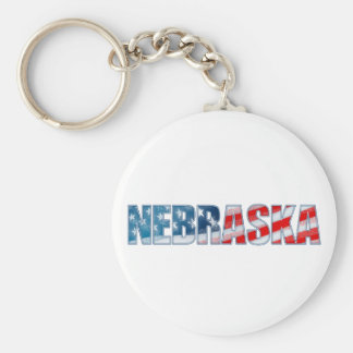 Nebraska Rund Nyckelring