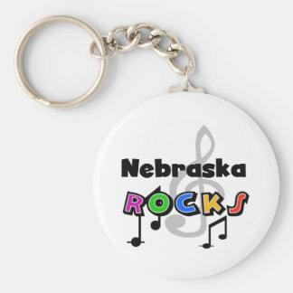 Nebraska stenar rund nyckelring