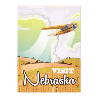 Nebraska vintage resoraffisch canvastryck