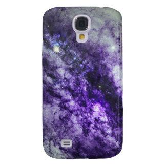 Nebula i purpurfärgat Speckfodral för iPhone 3 Galaxy S4 Fodral
