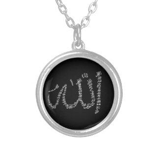 Necklace. för Asma Ul Husna Silverpläterat Halsband
