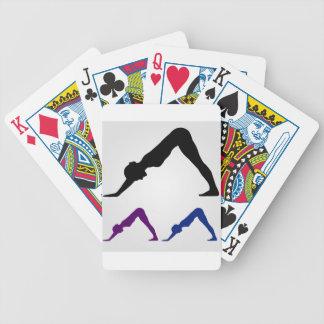 nedåt - vända mot hundyoga posera spelkort