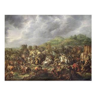 Nederlag av Porus av Alexander underbaren Vykort