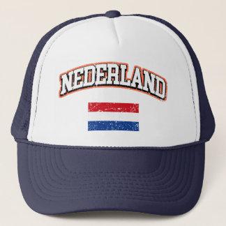 Nederland flagga truckerkeps