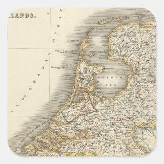Nederländerna 2 fyrkantigt klistermärke