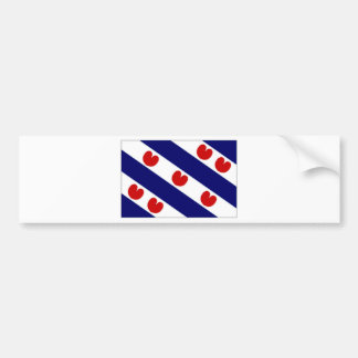 Nederländerna Friesland flagga Bildekal