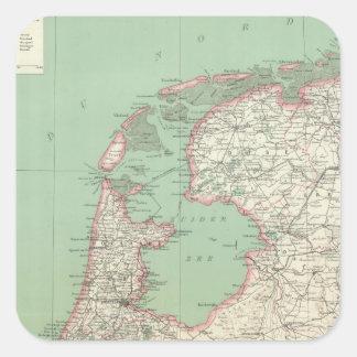 Nederländerna Fyrkantigt Klistermärke