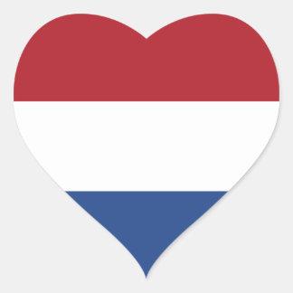 Nederländerna Hjärtformat Klistermärke