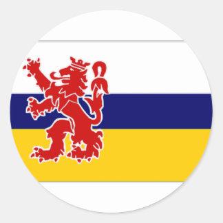 Nederländerna Limburg flagga Runt Klistermärke