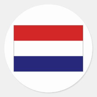 Nederländerna medborgareflagga runt klistermärke