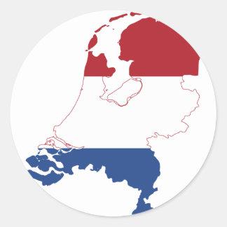 Nederländerna NL Runt Klistermärke