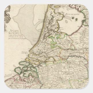 Nederländerna och Belgien 2 Fyrkantigt Klistermärke