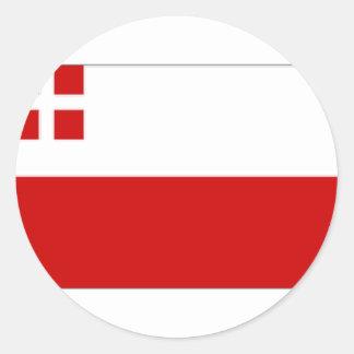 Nederländerna Utrecht flagga Runt Klistermärke