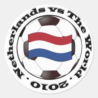 Nederländerna vs världen runt klistermärke