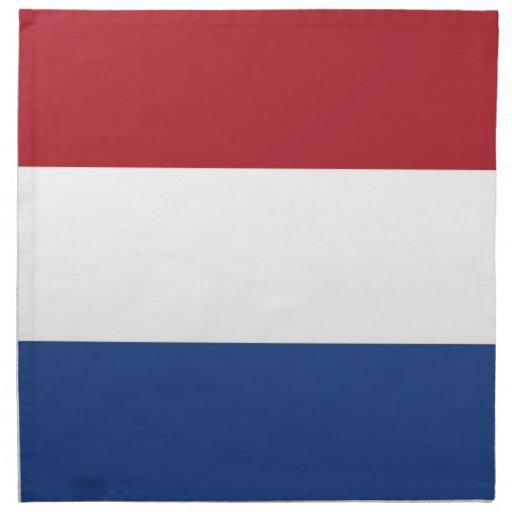 Nederländernaflagga på den MoJo servetten Servetter Med Tryck