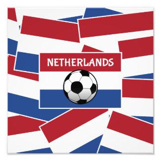 Nederländernaflaggafotboll Fototryck