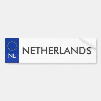 Nederländsk billicensklistermärke bildekal