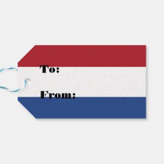 Nederländskt Holland patriotiskt mönster Pack Av Presentetiketter