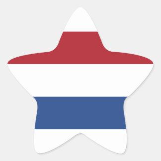 Nederländskt Holland patriotiskt mönster Stjärnformat Klistermärke