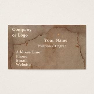 Nedfläckad pappvisitkort visitkort