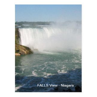Nedgångar beskådar: Niagara USA Kanada Vykort