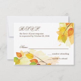 Fall Wedding Respond Card