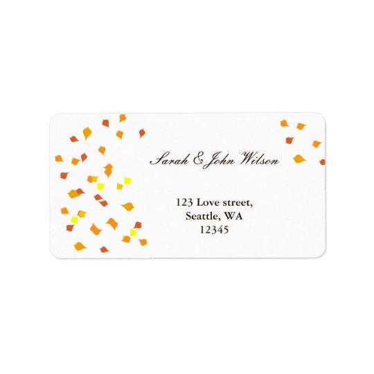 nedgångbröllop, returadressetikett adressetikett