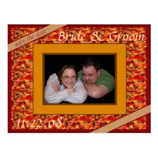 Nedgångbröllop spara datum vykort