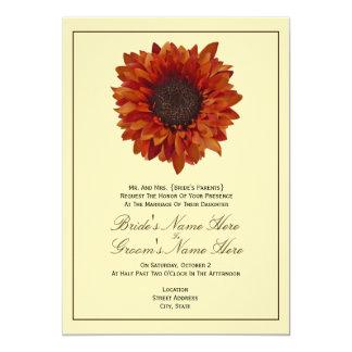 Nedgångbröllopinbjudan - från brud föräldrar 12,7 x 17,8 cm inbjudningskort