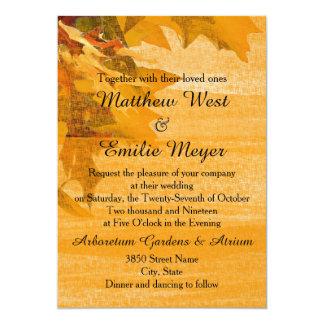 Nedgånghöst löv som gifta sig inbjudan
