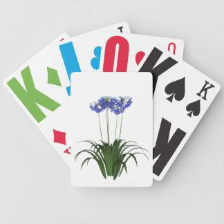 Nedsatt Agapanthus för vision som leker kort Spelkort