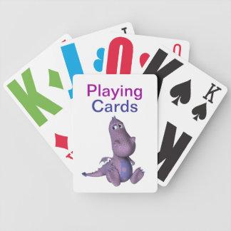 Nedsatt Dinosaur för vision Spelkort