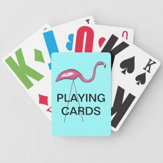 Nedsatt rosa Stork för vision som leker kort Spelkort