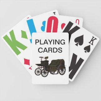 Nedsatt vintage car för vision som leker kort spelkort