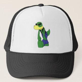 Nedslagna Lizardface - färgad lägenhet Keps