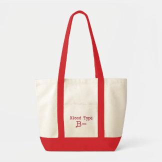 Negation för blodtyp B Tote Bags