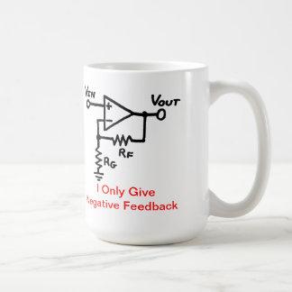 Negativ återkopplingskaffemugg kaffemugg