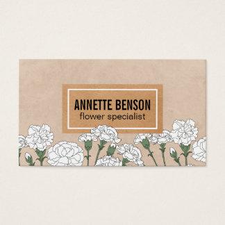 Nejlikor för blomsterhandlare   (vit) visitkort