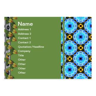 Neo inverterat litet för blommamönster set av breda visitkort