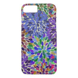 Neon blommar iphone case