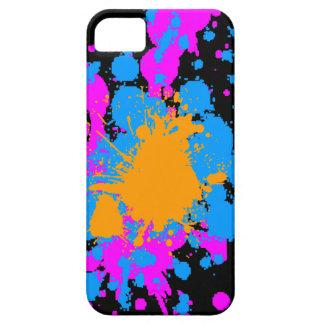 Neon för den Corey tiger80-tal målar Spaltter iPhone 5 Case-Mate Skal