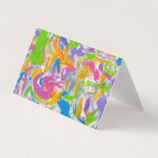 Neon Grafitti-Räcker målade abstrakt penseldrag Visitkort
