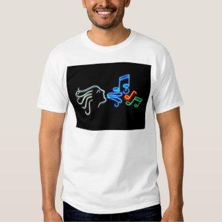 Neon noterar t shirt