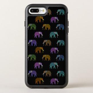Neonelefantmönster OtterBox Symmetry iPhone 7 Plus Skal