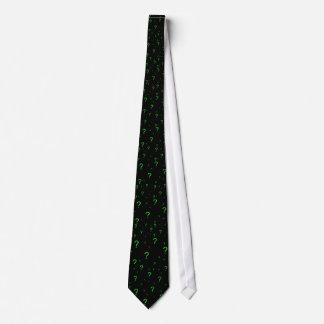 Neongrönt ifrågasätter markerar slips