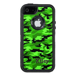 Neongrönt & svart kamouflagetryck OtterBox defender iPhone skal