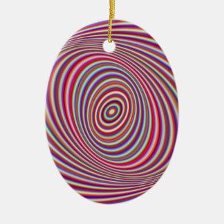 Neonhypnos Ovalformad Julgransprydnad I Keramik