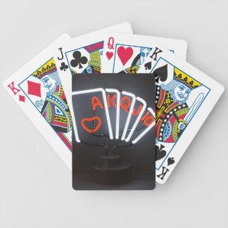 Neonljus som leker kort! spelkort